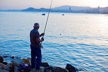 Fisherman, Benidorm, Alicante, Spain