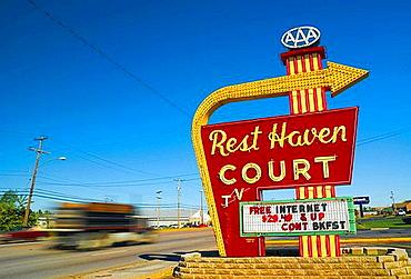 Rest Haven Court motel, Springfield, Route 66, Missouri, USA