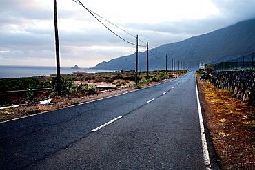 Road in el Golfo, El Hierro, Canary Islands, Spain