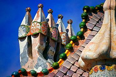 Casa Batllo by Gaudi, Barcelona, Spain