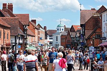 Stratford-upon-Avon's Henley Street Warwickshire, UK