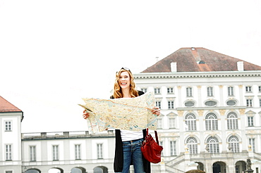 Young woman Sightseeing and Shopping