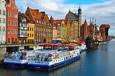 Ferries to Gdynia and Sopot at Motlawa riverside central Gdansk Warsaw Poland Europe