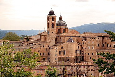The Renaissance inspired architecture of Urbino that has been declared a World Heritage Site, Marche, Italy