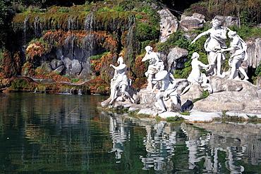 Park, La Reggia Palace of Naples Kings, Caserta, Campania, Italy