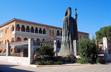 Statue of Makarios III, archbishop and primate of the Orthodox Church of Cyprus, Nicosia, Cyprus