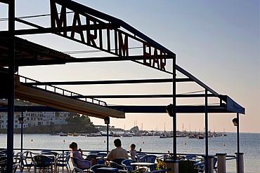 Cadaques Maritim Bar in La Plaja beach Costa Brava Girona province Catalonia Spain