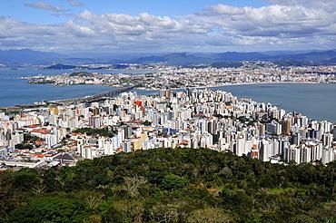Connection between downtown Florianopolis Island and mainland, Santa Catarina, Brazil.