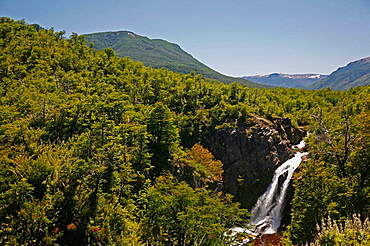 Waterfall around Bariloche, Lake district, Patagonia, Argentina.