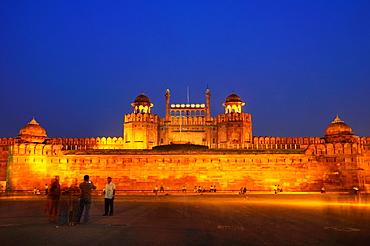 UNESCO World Heritage Site Red Fort in Old Delhi