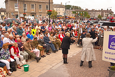 A Dad's Army reenactment at the 1940's weekend at Leyburn in North Yorkshire, England, Britain, Uk
