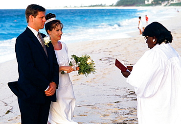 Wedding on the beach, Paradise Island, New Providence, Bahamas