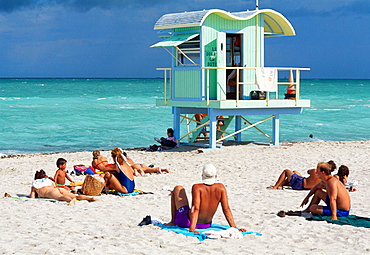 Lifeguard Station, South Beach, Miami Beach, Miami, USA