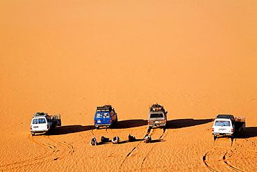 Four wheel drive safari into the Sahara Desert, Libya