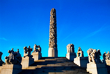Vigelands Monolith and Wheel of Life, Frogner Park, Oslo, Norway