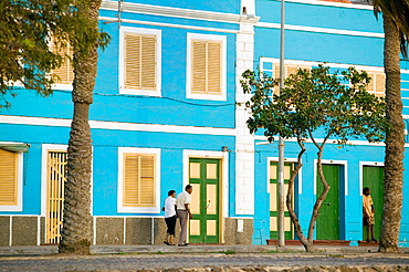 Waterfront of Mindelo, port town on Sv£o Vicente island, Cape Verde