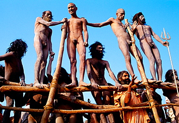 Sadhu (holy men) at Kumbh Mela festival, Allahabad, Uttar Pradesh, India