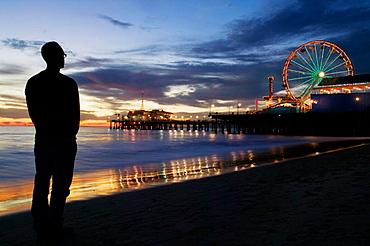 Amusement Park, Santa Monica Pier,Los Angeles, California, USA