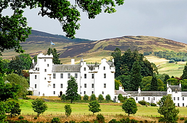Blair Castle at Blair Atholl, Tayside, Scotland, UK Home of the Duke of Atholl near Pitlochry, Killiecrankie Dates from 1269