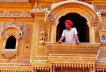Merchant¬´s mansion, Detail of a Haveli in Jaisalmer, Rajasthan, India - 817-36203
