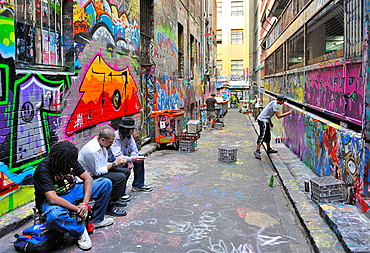 Hosier Lane in Melbourne City - The Mekka of Grafitti Artists, Australia