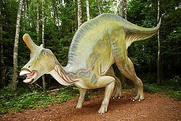 Lambeosaurus Lambe lizard in Leba Park dinosaur theme park, Poland
