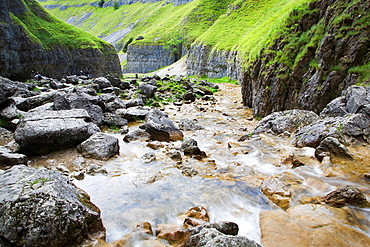 Gordale Scar Malhamdale Yorkshire Dales England