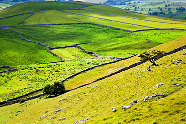 Malhamdale from Gordale Scar Yorkshire Dales England