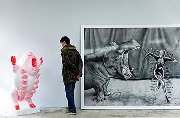 Mook gallery Nº4 Jiuxianqiao road, in Dashanzi 798 Art District, Beijing, China
