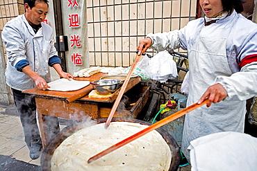 Food stall at Dazhalan Jie, Beijing, China