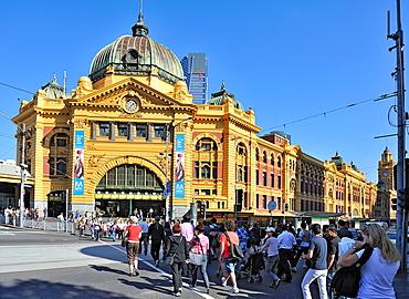Flinders Street station in Melbourne Citiy