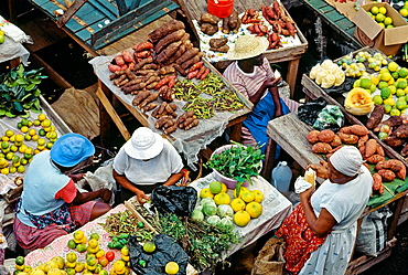 The market, Pointe a Pitre the capital, Guadaloupe, French Antilles, France