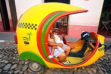 Coco taxi, Trinidad city, Sancti Spiritus Province, Cuba