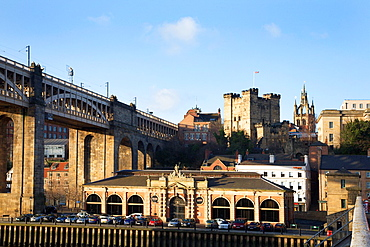 Former Fish Market from the Swing Bridge Newcastle upon Tyne England