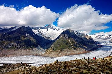 Aletsch Glacier, canton Valais, Switzerland