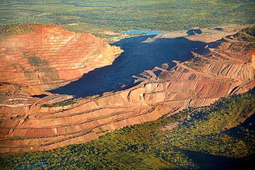Aerial of Argyle Diamond Mine, East Kimberley Region, Western Australia, Australia