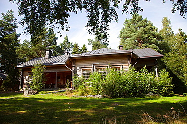country house, rautavesi lake, vammala village, finland, europe