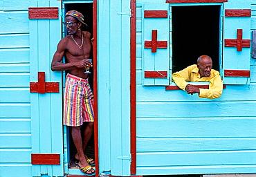 Men, Gros Islet, St, Lucia (West Indies)