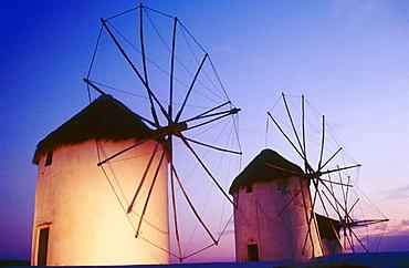 Windmills, Mykonos, Cyclades islands, Greece