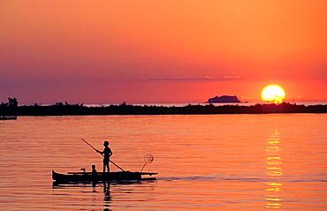 Indonesia Sulawesi Makassar sunset