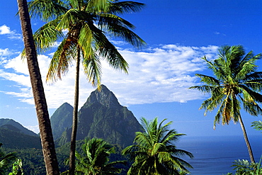 Gros Piton and Petit Piton mountains, St, Lucia (West Indies)