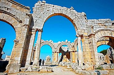 St, Simeon basilica (5th century), Qal'at Samaan located near Aleppo, Syria