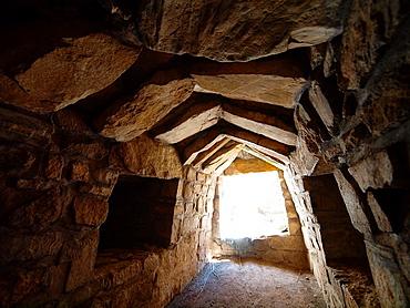 Zapotec tomb. Monte Alban archeological site. Oaxaca. Mexico.