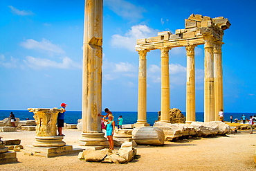 Temple of Apollo  Side ancient city  Province of Antalya  Mediterranean coast  Turkey