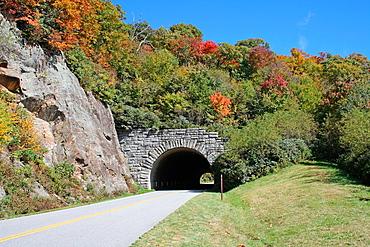 Tunnel along the Blue Ridge Parkway in Western North Carolina