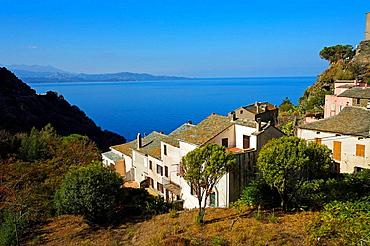 Village of Nonza, Cap Corse, Corsica, France