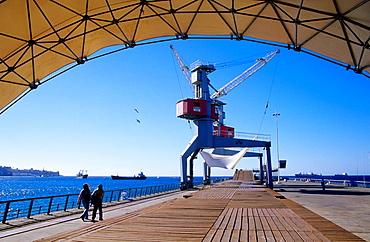 The rehabilitated Muelle Baron  Valparaiso  Chile
