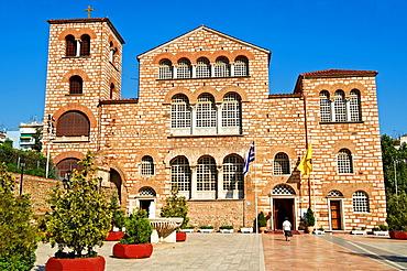 The 4th century AD Romanesque 3 aisled basilica of Saint Demetrius, or Hagios Demetrios,  µt, a Palaeochristian and Byzantine Monuments of Thessaloniki, Greece  A UNESCO World Heritage Site