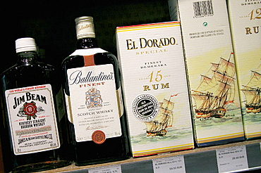 Liquors, Duty free shop