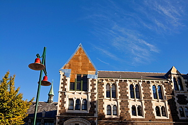 Damage in buildings after the earthquake in Christchurch, South Island, New Zealand